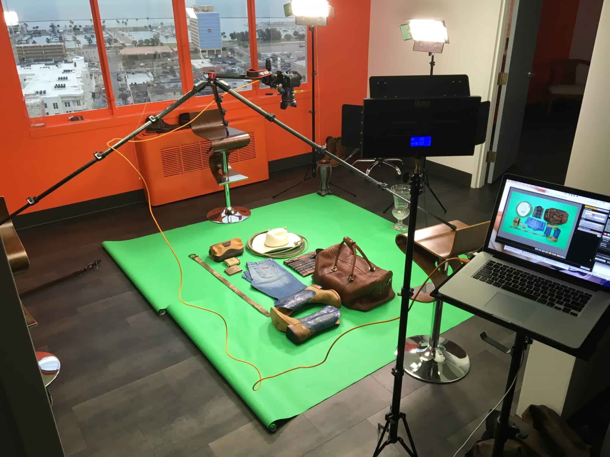 Studio set up for Corpus Christi Web Design, Branding and Photography