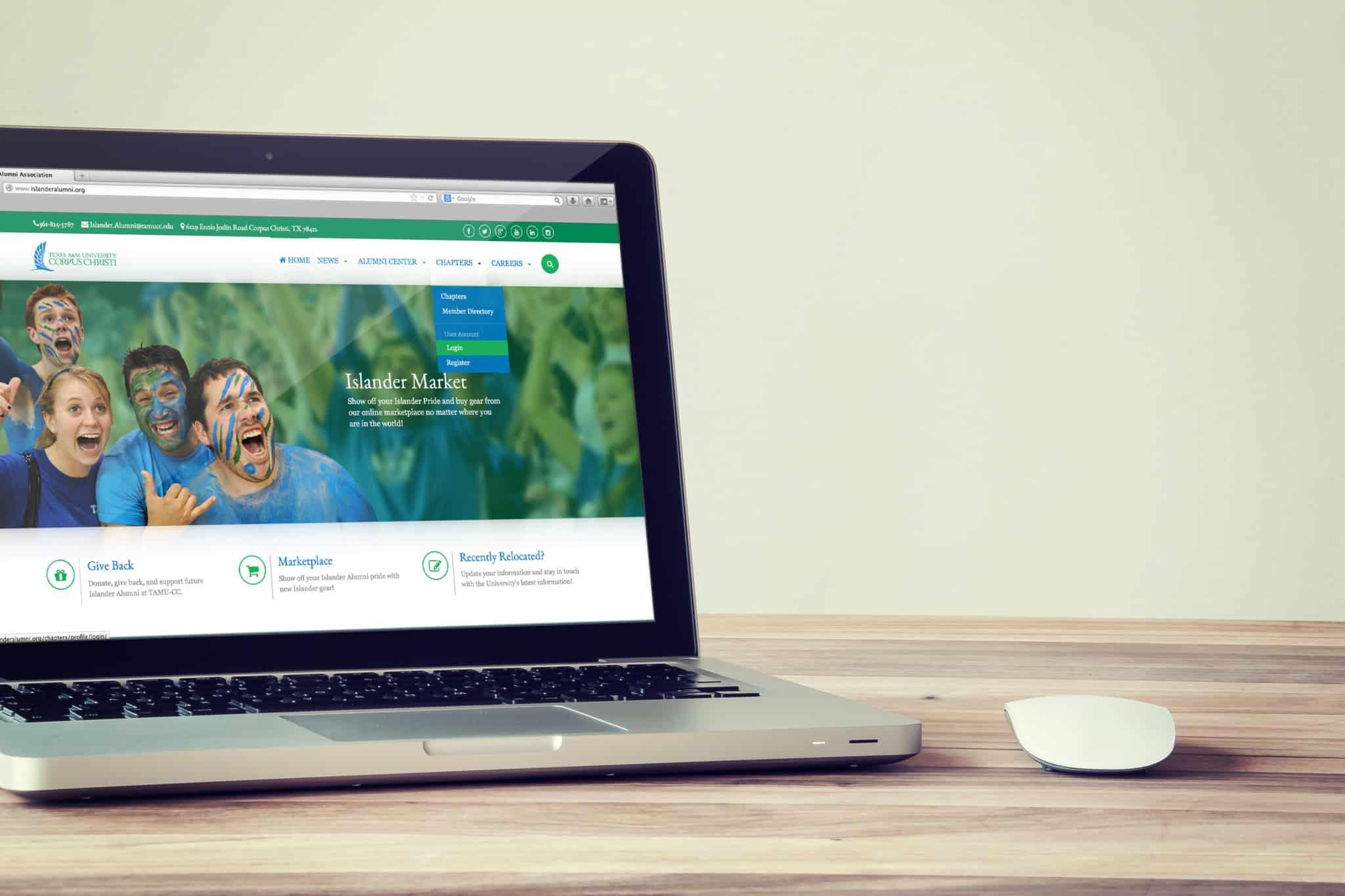Hi Res Creative Unveils New Site for TAMU CC Islander Alumni Association