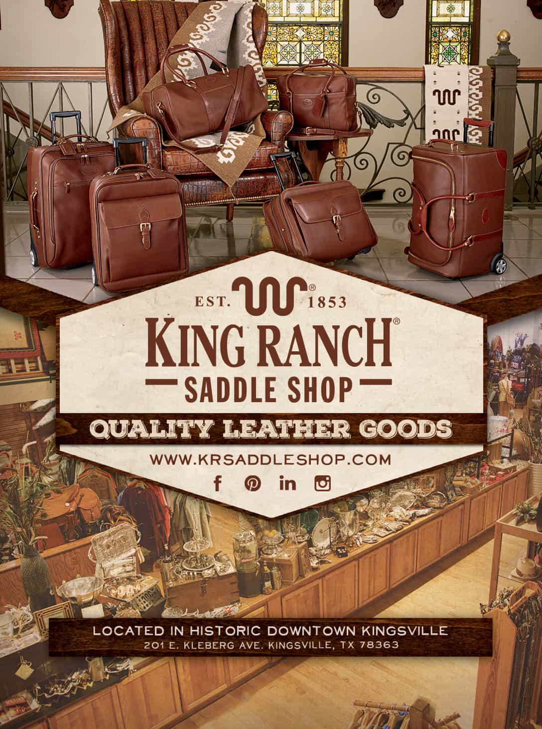 King Ranch Saddle Shop Visitors Guide Advertisement